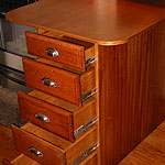 kitchen island with 100 yearold recycled drawer fronts